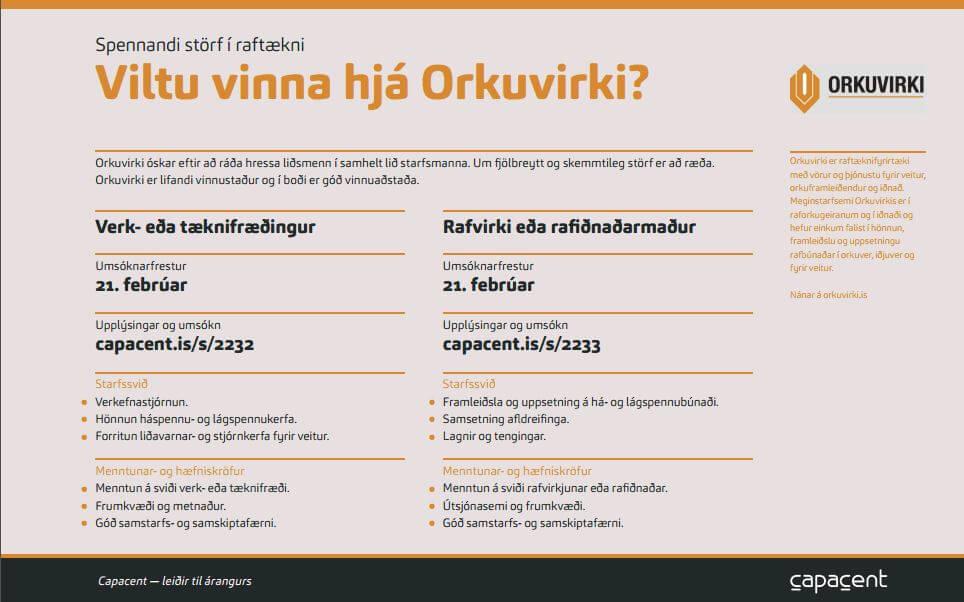 Viltu Vinna Hjá Orkuvirki?
